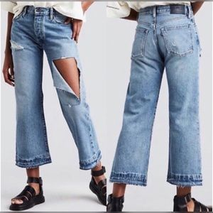 Levi's Spliced Flare High Rise Jeans NWT